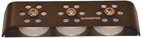 (Schaefer 3 Series Double Deck Organizer Aluminum Cheeks with Top Strap)