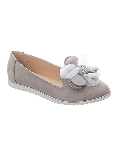SheLikes SheLikes Femme Chaussons Chaussons Gris pour OBqdn1B8x