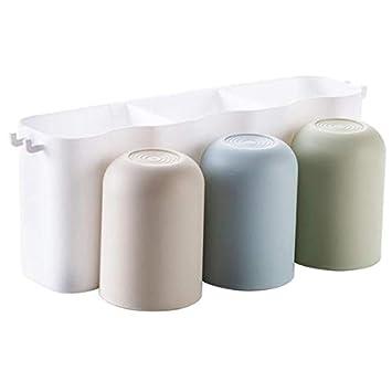 Shuzhen,Soporte de baño práctico para portavasos de Cepillo de Dientes(Color:Blanco