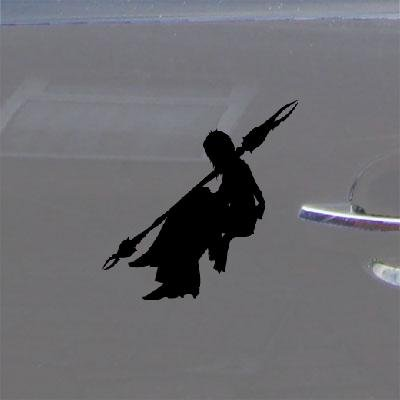 HELMET BLACK NOTEBOOK DECOR DECAL ADHESIVE VINYL DECORATION HOME DECOR FINAL FANTASY XIII CAR BIKE OERBA YUN FANG WINDOW LAPTOP MACBOOK CAR WALL VINYL]()