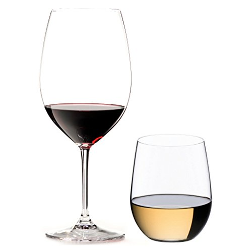 Riedel 8 Piece Vinum Bordeaux and O Viogner Wine Glass Set, Buy 4 Get 8 For Sale