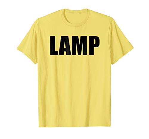 Lamp Costume Moth Meme Couple Fun Halloween Party T-Shirt ()