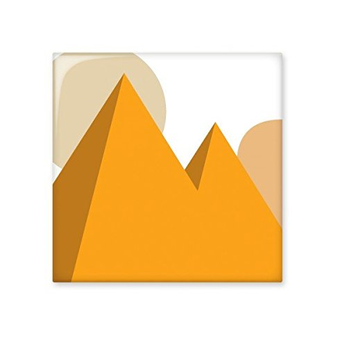 chic Egypt Culture Yellow Sphinx Pyramids Sun Abstract Illustration Pattern Ceramic Bisque Tiles for Decorating Bathroom Decor Kitchen Ceramic Tiles Wall Tiles