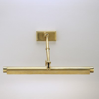 Robert Abbey 412 Sconces with Metal Shades, Antique Natural Brass Finish