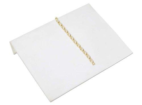 Jewelry Display Bracelet Ramp White 10