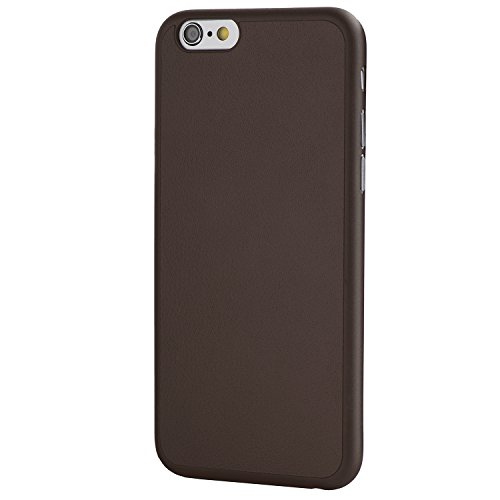 iPhone 6 Case, Thinnest Genuine Leather Cover Case for iPhone 6/6S - Ultra Thin, Slim & Real Premium Leather Back (Mocha Brown)