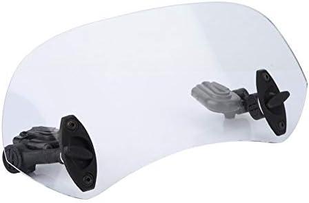 Nancunhuo Motorrad-Windschutzscheibe-Universalmotorrad Modified Windschutzscheibe Windschutzscheibe Spoiler Luftleitblech Transparent