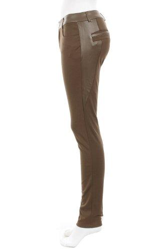 Legging avec empiècement faux cuir