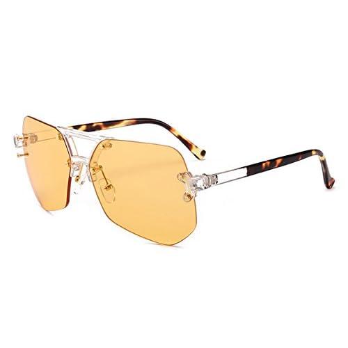 cfd08800bd Huateng Gafas de sol protectoras UV no polarizadas clásicas retros Gafas de  aviador irregulares Lovely