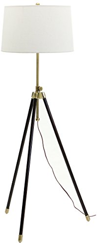 House of Troy TR201-AB Tripod Adjustable Floor Lamp, Antique Brass