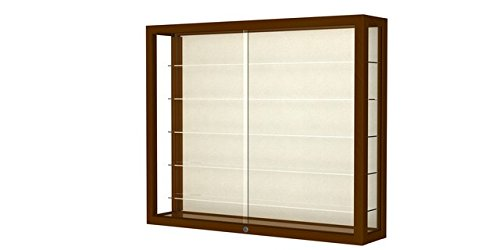 Heirloom Series Display Case - Heirloom Series Wall Display Case Frame Color: Carmel Oak, Case Backing: Plaque Fabric