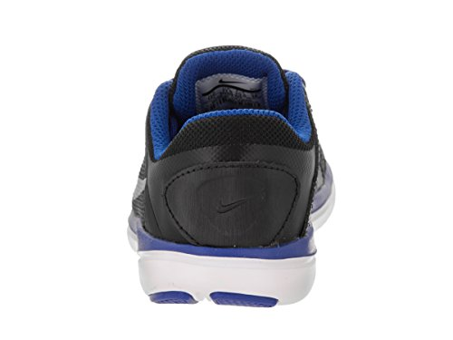 Nike Boy 's flex 2016 RN Athletic Shoe Negro, plateado metálico, blanco (black/Metallic Silver/Game Royal/White)