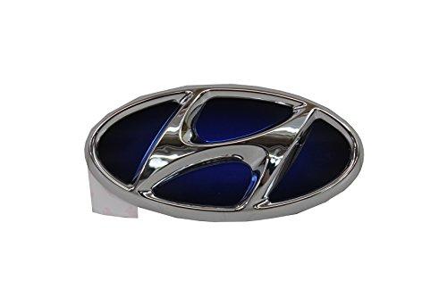 Hyundai Genuine Sonata 86300 4R000 Hybrid Chrome/Blue Front Emblem (Blue Hyundai Sonata)