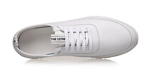 Hombres Entrenadores Gimnasio Para caminar Entrenadores Aptitud Ligero Deportes Corriendo Blanco Casual Zapatos Al aire libre Blanco