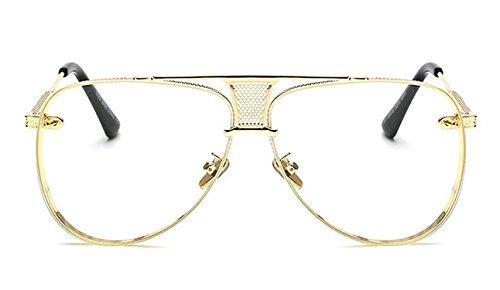 Puissant Fashion Retro Men Oval Sunglasses Women Metal Glasses Vintage Sunglass UV400,OneSize,Bearded