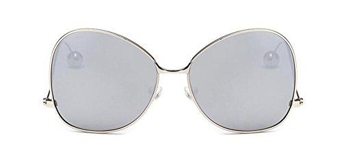lunettes en métallique du Comprimés cercle polarisées soleil de inspirées Mercure vintage style de retro rond Lennon rIprzqxw