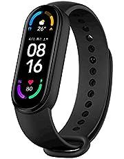 "Xiaomi Mi Band 6 Smart Wristband, Fitness Tracker, 1.56"" AMOLED Screen, SPO₂ Tracking,50m Water Resistance,Global Version - Black"