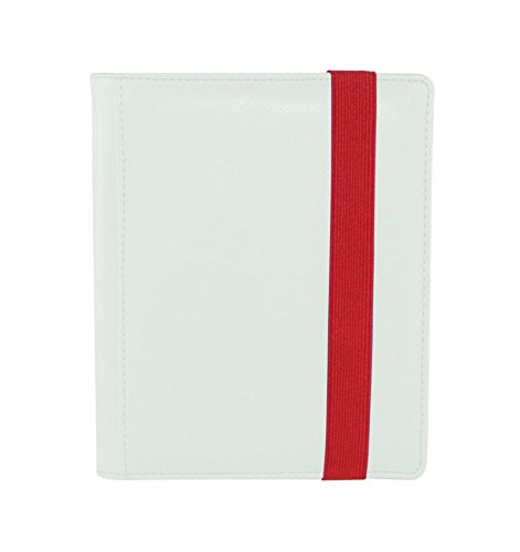 Dex Protection Dex Binder 4 White Deluxe Portfolio 4-Pocket Velvet-Lined Album Holds 160 Cards Double Sided, Side-Load Binder fits Magic, Pokemon, - Album Portfolio Pocket 4