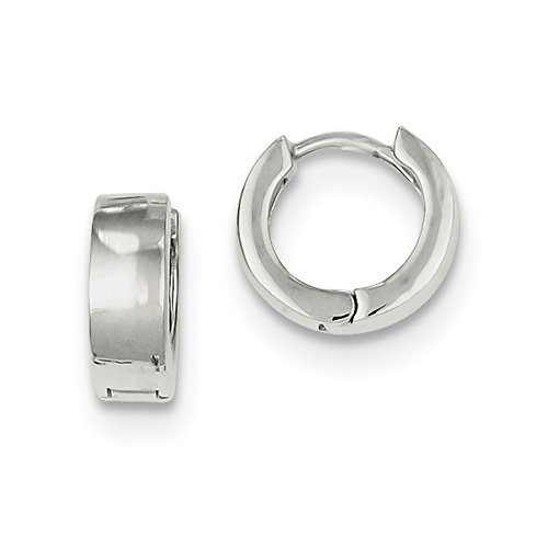 Sterling Silver Huggie-Style Earrings (Approximate Measurements 10mm x 4mm)