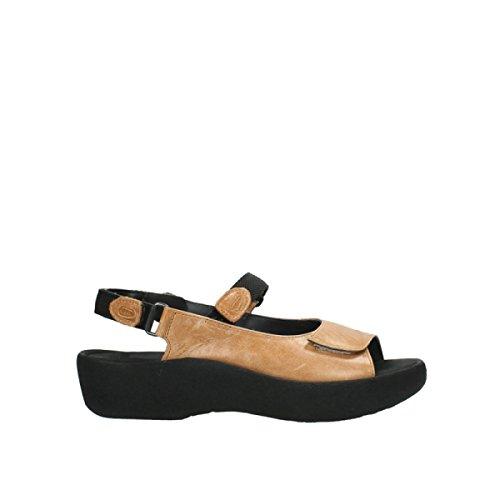 Wolky Damen Sandaletten NV 3204300 Schwarz 278854 Beige