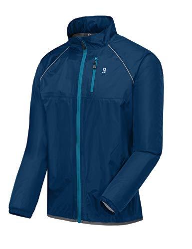 Little Donkey Andy Men's Waterproof Cycling Bike Jacket, Running Golf Rain Jacket, Windbreaker, Ultralight and Packable Navy Size M