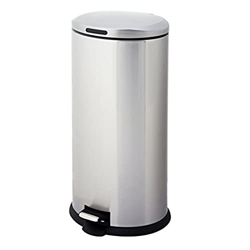 Home Zone VA40914A 30L Stainless Steel Oval Step Trash Can