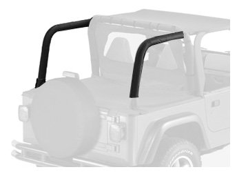 Bestop 80020-15 Black Denim Sport Bar Cover for 1997-2002 Wrangler TJ with or Without Factory soundbar