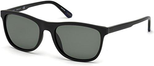 Sunglasses Gant GA 7095 02R matte black / green - Gant Men Sunglasses