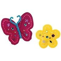 Mariposa con flor comienza a coser el kit-3-3 /4 pulgadas x8 pulgadas