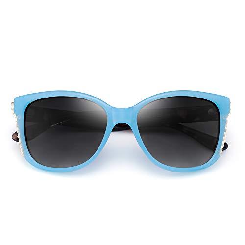 Lunettes Lunettes Dégradé Concepteur Surdimensionnées Luxe de femmes Solaire Soleil Gradient Bleu Elégantes Gris r7rqfZ0