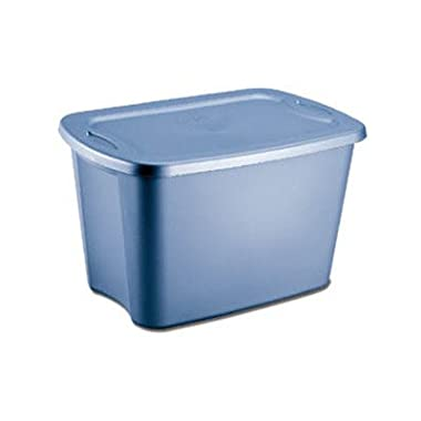 Sterilite 18301008 18-Gallon Tote Box, Lapis, Pack of 8