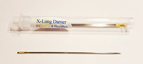Gold Eye Extra-Long Darners Needles Size 1 Pkg of 4 ()