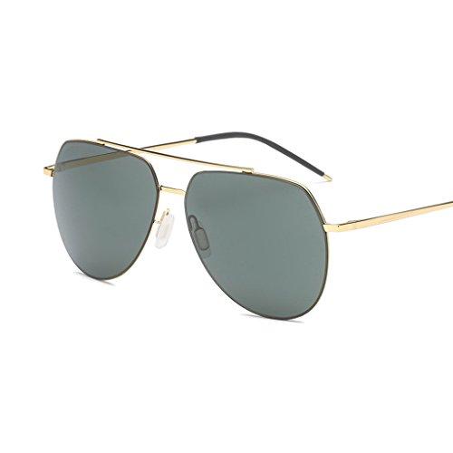 Viaje y al Sol Conducción Moda de de Femenino Masculino Oscuro Cómodo polarizada Sol Verde Aire Gafas de de Libre Silver Ultravioleta Water luz Espejo Color de Gafas Metal Anti q6OUtw5