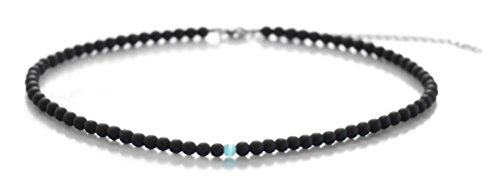 Onyx Bead Necklace (Choker Necklaces Matte Black Onyx Beaded Choker