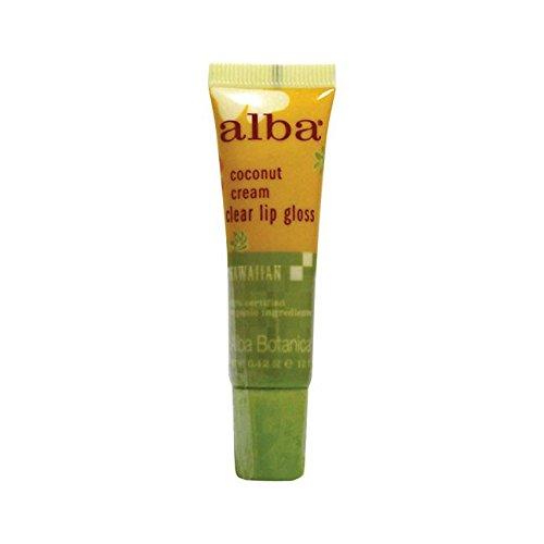 Alba Botanica Hawaiian, Coconut Cream Clear Lip Gloss, 0.42 Ounce