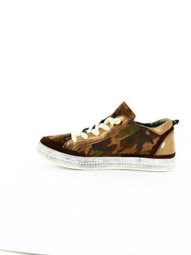 Geox, Sneaker Donna Marrone Braun (dk Militaire C3026)