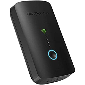 RAVPower FileHub Plus, Wireless Travel Router, Portable SD Card,HDD Backup Unit, DLNA NAS Sharing Media Streamer 6700mAh External Battery Pack for Android, ...