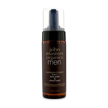 John Masters Organics Eucalyptus & Agave 2 – In – 1 Face Wash & Shave Foam 6oz, 177ml