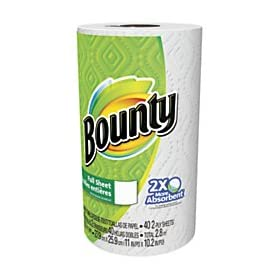 Bounty 2-Ply Paper Towels, 11″ x 10 1/5″, White, 40 Sheets Per Roll, Pack of 30 Rolls