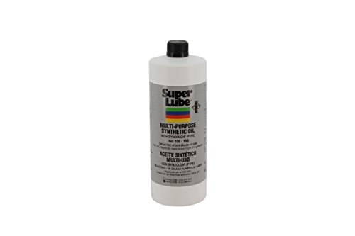 Super Lube 51030 Synthetic Oil with PTFE, High Viscosity, 1 quart Bottle, Translucent White ()