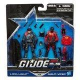 G.I. Joe 50th Anniversary Exclusive Action Figure 2-Pack Night Marksmen [Low-Light vs. Night-Viper] ()