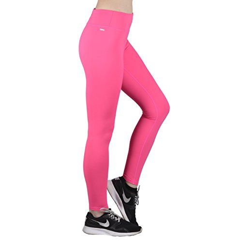 Compression Workout Leggings - Workout Clothes and Yoga Pants (Medium, Pink)