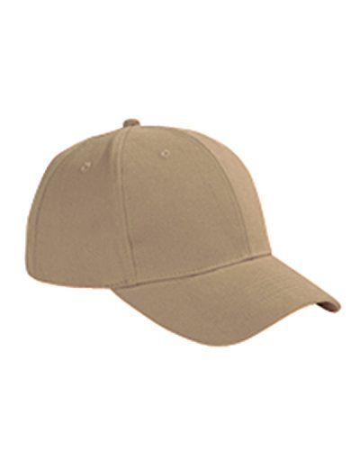 Big Accessories Six Panel Brushed Twill Structured Cap, Khaki, One Size