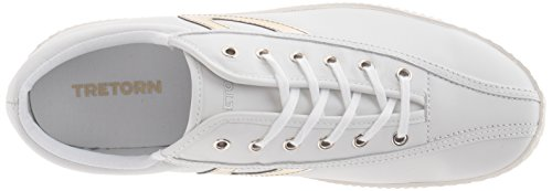 Tretorn Womens Nylite2 Plus Fashion Sneaker Bianco Neve / Oro