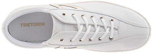 TRETORN Women's Nylite 2 Sneakers, Snow White/Gold, 6 Medium US