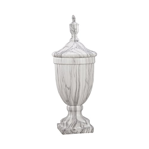 Faux Marble Urn - Hamptons Collection Neuchatel Faux Marble Ceramic Urn - Small