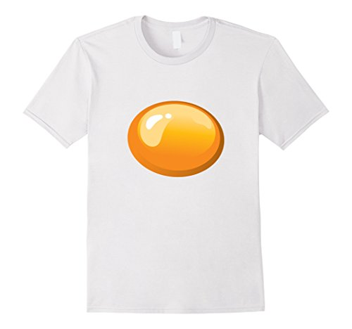 Mens Fried Egg Matching Costume Funny Halloween Shirt Medium White (Funny Original Halloween Costumes For Couples)