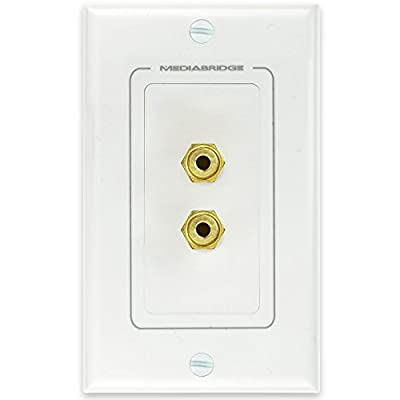 Mediabridge Speaker Wall Plate w/ Binding Posts (1 Pair) - FREE Mounting Bracket (1-Gang) - for 1 Speaker ( WP1-BPX1 )