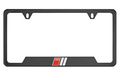 quattro black license plate frame - 7