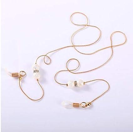 rutschfeste Brillenkette mit Gummiring Sonnenbrille Cord Gold//Silber//Rose Gold Gold 3 Farben Metallband Gl/äser Mode Legierung Brillenkette f/ür Frauen
